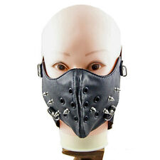 Punk Style Rivet PU Leather Face Mask Muffle Mouth Fashion Hot TOP