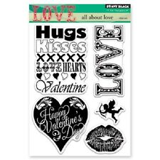 PENNY BLACK RUBBER STAMPS CLEAR ALL ABOUT LOVE NEW STAMP