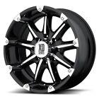 4- 18 Inch Black Rims Wheels Lifted Chevy Silverado 1500 Truck Gmc Sierra 6 Lug