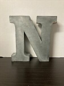 "Large Tin Letter ""N"" 7.5"" tall, 1.5"" thick Free Standing Or Hangable Farmhouse"