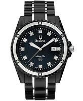 Bulova Marine Star Men's Quartz Diamond Accent Black 43mm Watch 98D107