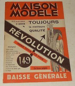 CATALOGUE Vêtements MAISON MODELE années 30' Smokings - Costumes - Norfolks...