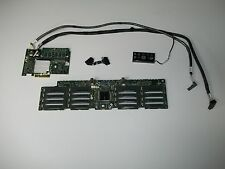 "Dell PowerEdge R910 16 X 2.5"" Slot Hard Drive Backplane J565K w/cables H700 RAID"