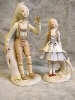 Cybis Hansel and Gretel Pair 1974 Porcelain Figurines Excellent Condition