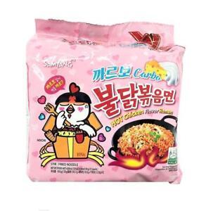 SAMYANG Carbo Carbonara Buldak FIRE NOODLE HOT CHICKEN RAMEN SPICY Noodle