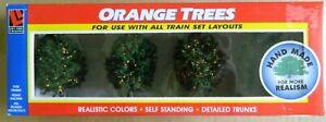 Life Like Orange Trees Hand Made #1909 NIB Ships FREE in US