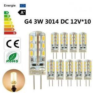10PCS G4 3W 24*3014SMD 6000K Bi-pin LED Capsule Warm White Lamp Light Bulb DC12V