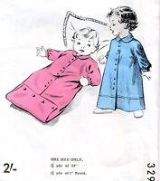 RARE Vintage 60s BABYS DRESSING GOWN & SLEEPING BAG Sewing Pattern UNUSED One Sz
