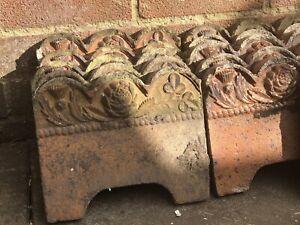 Reclaimed Victorian Garden Thistle, Rose, Clover Tiles X 39 Price Per Tile