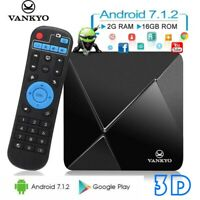 VANKYO TB80 Smart TV Box 4K 3D 2GB+16GB 2.4G WiFi BT4.0 HD Media Player Android