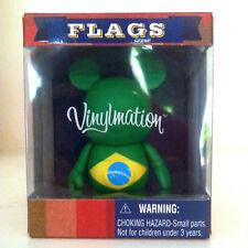 "DISNEY VINYLMATION 3"" FLAGS BRAZIL RIO DE JANEIRO WORLD CUP TOY FIGURE NIB FLAG"