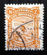 NEW ZEALAND 1913 Life Insurance SGL30 Used Cat £38 SEE BELOW NQ854