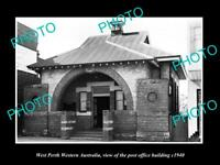 OLD LARGE HISTORIC PHOTO OF WEST PERTH WESTERN AUSTRALIA, THE POST OFFICE c1940