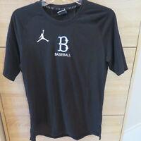 Nike Jumpman Michael Jordan White Sox Baseball  Black Dri Fit  T-Shirt Tee Sz M