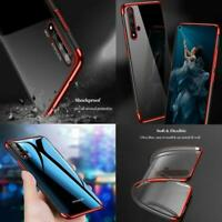 For Huawei Nova 5T, Clear Shockproof Silicone Gel Phone Case + 9H Screen Glass