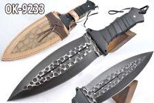 """14.4"""" KMA FLINT KNOPED ACID WASHED 52100  STEEL SMATCHET COMBAT BLADE KNIFE 9233"""