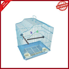 """14"""" Small Parakeet Wire Bird Cage for Canaries Lovebirds Hanging Bird House"""