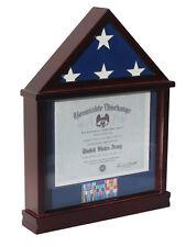 Flag Display Case Military Shadow box for 3'X5' U.S. Flag, Hardwood FC11(BLU)-MA