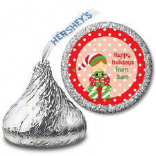 Santa's Little Elf - Personalized Christmas Hershey Kiss Stickers-108 Stickers