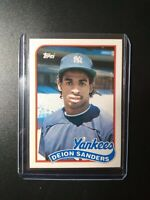 1989 TOPPS TRADED DEION SANDERS ROOKIE #110T.