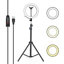 Aluminum Alloy Photography Led Selfie Ring Light Dimmable Photo Camera Phone