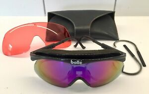 Vintage Black Bolle Cycling Sunglasses, with 2 lenses (with prescription option)