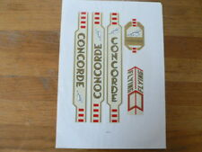 STICKERS,DECALS ON PAPER CONCORDE FLYING CYCLING FIETSEN ? GOLD
