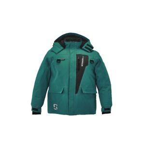 Striker Ice Youth Predator Ice Fishing Flotation Jacket Emerald Teal Gray Sz 10