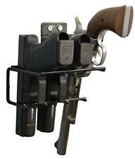 Boomstick Gun Accessories 3 Gun Handgun Black Vinyl Coated Pistol Wall Mount