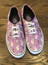 Vans Off The Wall Pink With Skateboarding Dog Pineapple And Watermelon Shoes