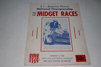 Midget Auto Racing Program, California Ascot Stadium, Feb 1959
