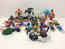 Vintage 1990s Action Figures Spider Man Wrestling Toys Cake Toppers 1980s