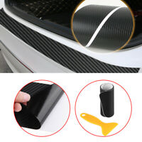 1x Auto Car Carbon Fiber Rear Bumper Protector Corner Trim Sticker Accessories