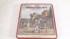 """Vintage Johnnie Walker Red Coach Stop For A Wee Dream Advertising Tin 8.5x9.5x2"""""""