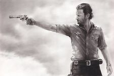 The Walking Dead Rick Grimes Sheriff ART CHARCOAL DRAWING 10X15""