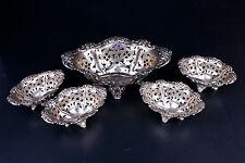 Set of 5 Sterling Silver Bon Bon Bowls By Alvin Mfg Co.