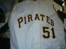 2001 Rich Loiselle Pittsburgh Pirates game worn used home jersey COA