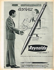 PUBLICITE ADVERTISING  1966   REYNOLDS  stylo bille