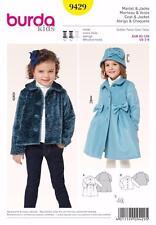 BURDA KIDS SEWING PATTERN Short jacket Peter Pan collar COAT SIZE 2 - 8 9429