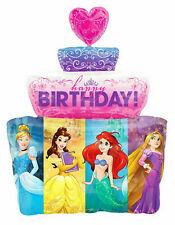 "Disney Princess Cake Shape foil balloon 28"" Beauty Belle Mermaid Cinderella"