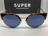 RetroSuperFuture 576 Ilaria Silver Frame Sunglasses NIB