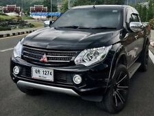 Front Grille Mitsubishi 15 16 Triton L200 MQ Matte Black w/ Red Emblem