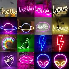 Neonlicht Nachtlicht Blitz Form Zeichen Deko-Licht für Kinder Freunde Geschenk