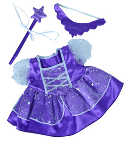 "Purple Fairy Princess teddy clothes 16"" outfit fit 14"" - 18"" build a bear"