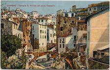 1928 Sanremo torrente S. Romolo ponte Ciappella case città panni FP COL VG