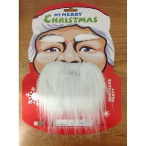 SANTA CLAUS EYEBROWS BEARD MOUSTACHE SET FATHER CHRISTMAS COSTUME FANCY DRESS UK