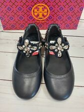 NWD Tory Burch Minnie Embellished Two Way Ballet Flats Black Size 7.5
