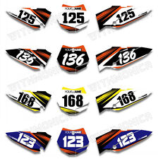 Custom Number Plate Background Graphics For KTM SX65 2009 2010 2011 2012 2013