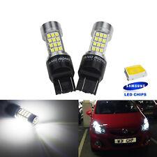 2 Ampoules LED T20 W21W  54 SMD Veilleuses position Feux de Jour diurne