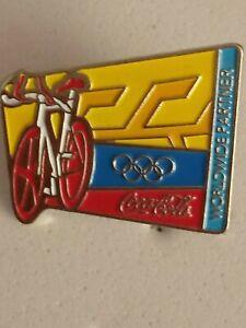 2004 Athens OLYMPICS Coca Cola Coke sponsor pin badge cycling sport
